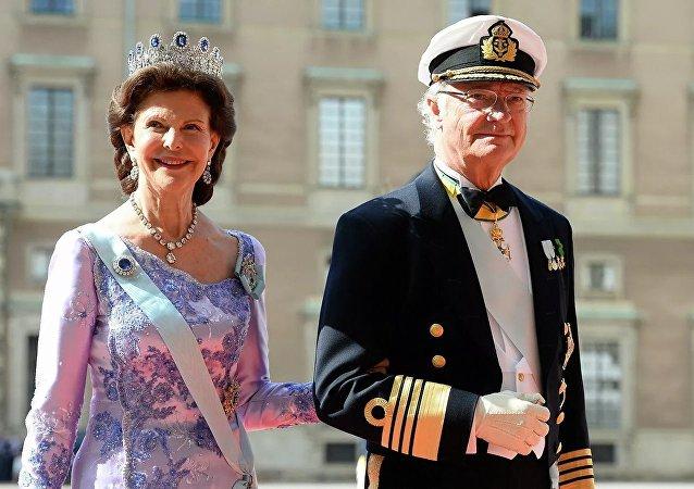 瑞典國王卡爾十六世·古斯塔夫與瑞典女王西爾維亞