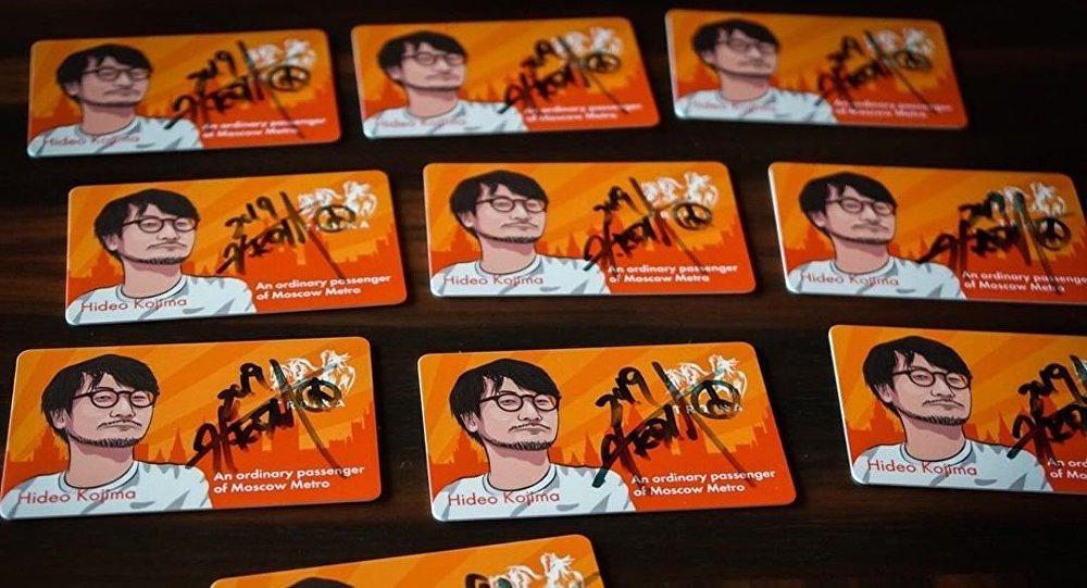 有小島秀夫親筆簽名的地鐵卡在網上出售