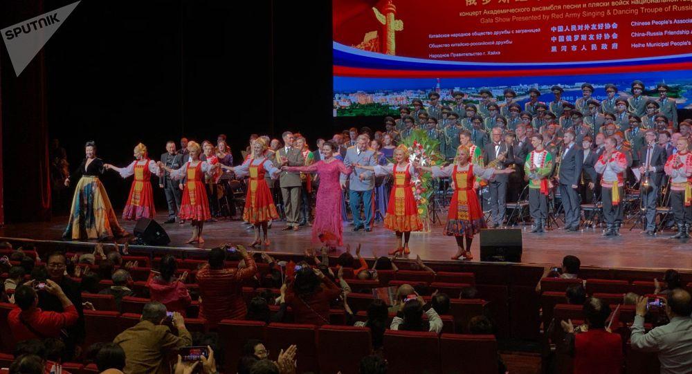 兩場紀念中俄建交70週年的音樂會於同一晚在京舉行