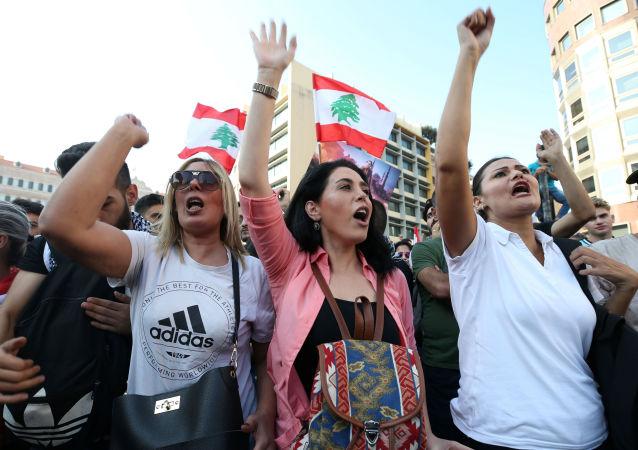 黎巴嫩貝魯特抗議活動