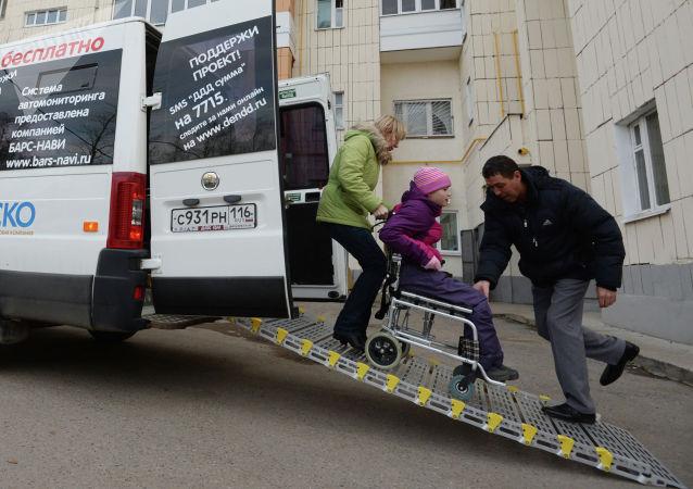 公益出租車為殘疾人優惠價提供運輸服務