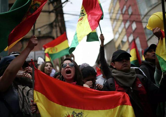 玻利維亞的抗議者