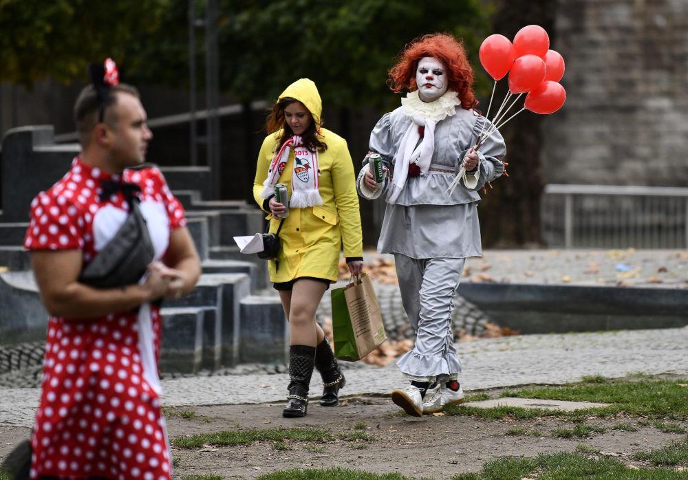 科隆狂歡節的參與者。