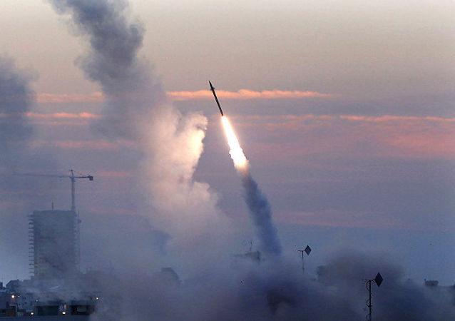 以色列「鐵穹」防空系統在阿什杜德
