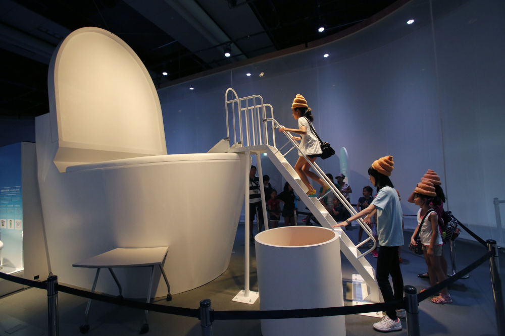 東京國立科學與創新博物館中的訪客