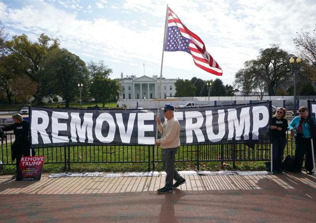 民調:美國人對於彈劾特朗普的意見對半開