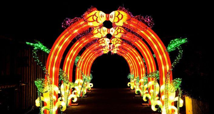 莫斯科索科爾尼基公園舉辦「中國燈節」