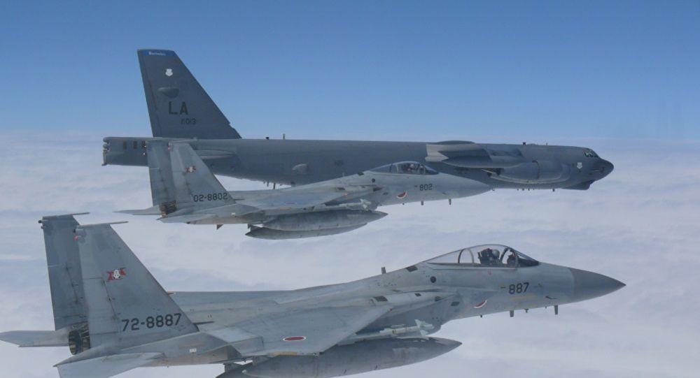 美軍B-52首進台飛行情報區