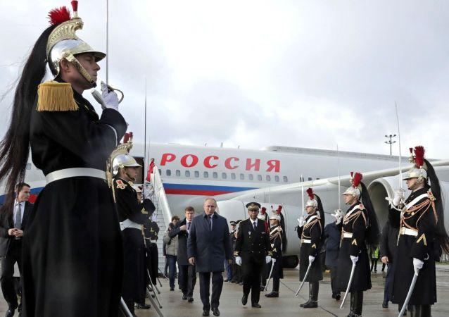 普京飛抵巴黎參加「諾曼底模式」四國峰會