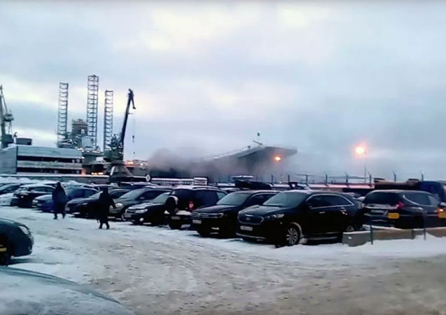 俄「庫茲涅佐夫海軍上將」號航母滅火現場找到一具犧牲軍官遺體
