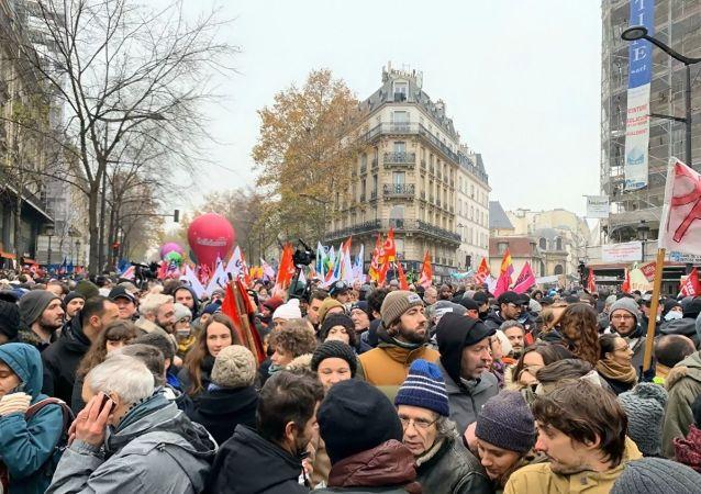 巴黎抗議示威(資料圖片)