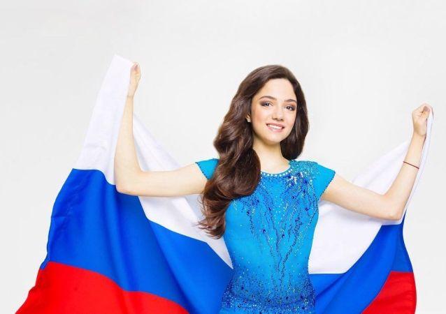 兩次獲得世界冠軍的俄羅斯選手葉夫根尼婭•梅德韋傑娃