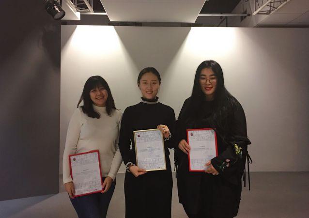三名獲獎同學