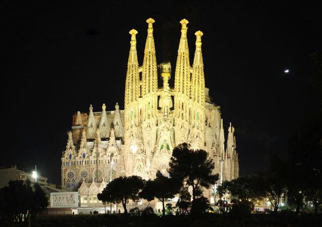巴塞羅那著名聖家族大教堂