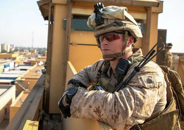 美海軍陸戰隊員