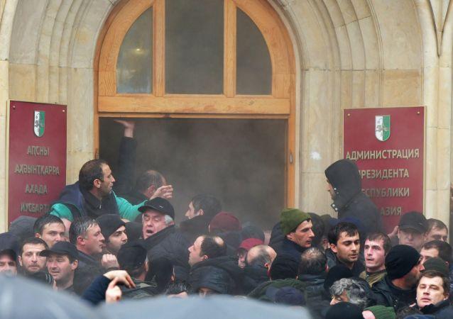 阿布哈茲總統表示如有必要將宣佈全國進入緊急狀態