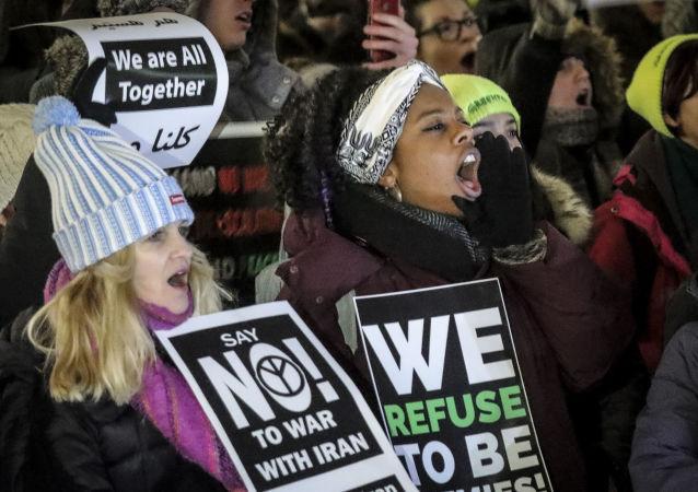 紐約和華盛頓數百示威者舉行集會抗議與伊朗的戰爭