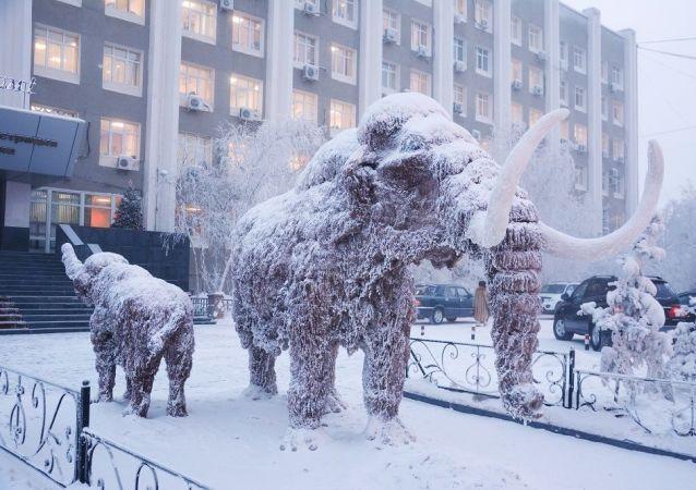 雅庫茨克,猛獁雕塑