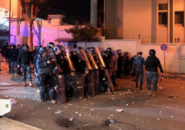 黎巴嫩軍警已經控制俄大使館周邊發生騷亂的區域
