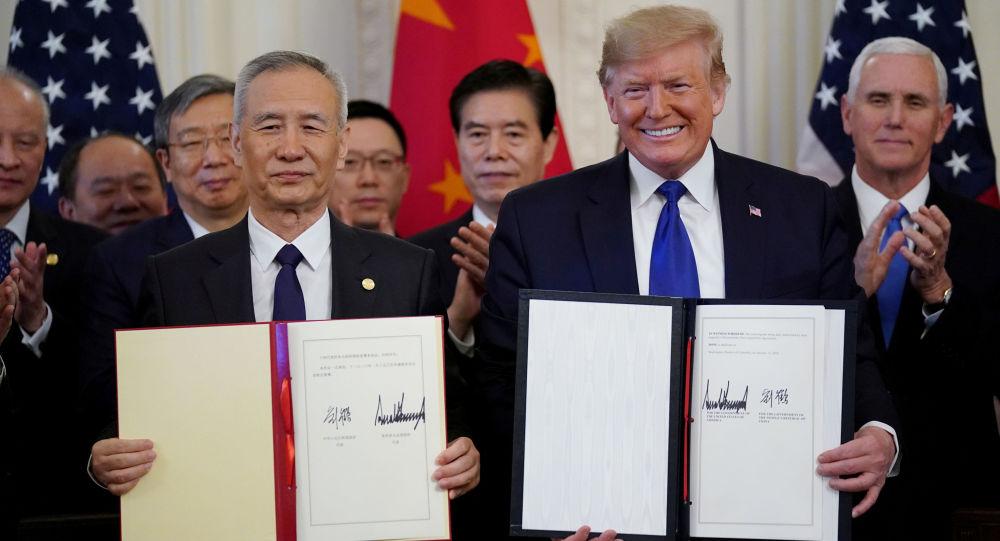 美國商會:經貿協議的簽署標誌著中美貿易關係翻開新篇章