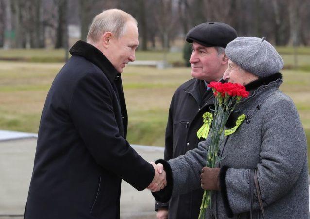 俄總統普京在聖彼得堡