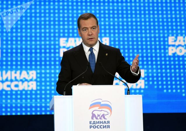 「統一俄羅斯」黨主席梅德韋傑夫