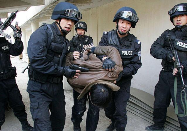 新疆警方抓獲恐怖分子 資料圖