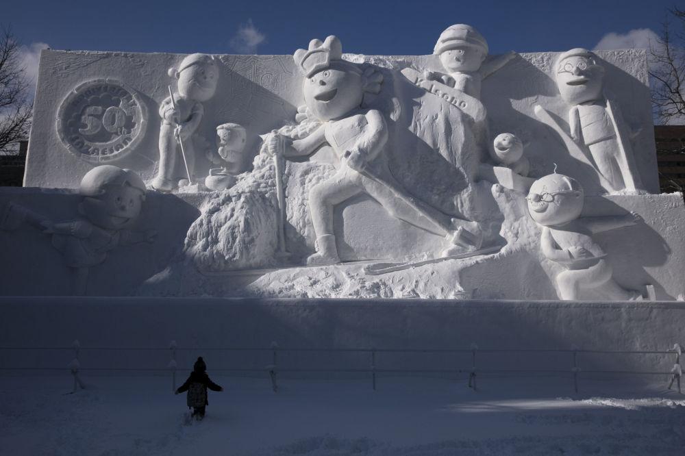 日本札幌冰雪節上的雪雕