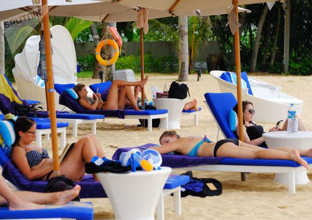 外遊客在泰國