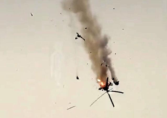 敘利亞武裝部隊直升機在阿勒頗被擊落
