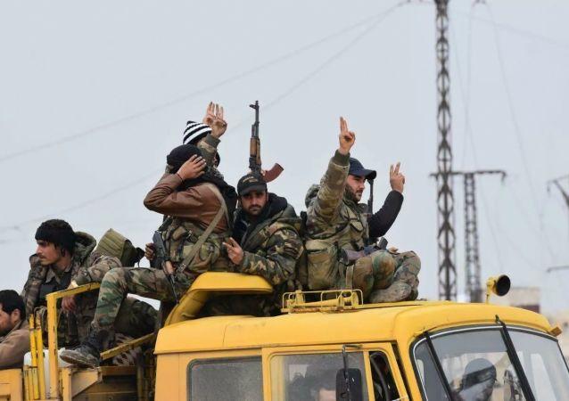 敘利亞政府軍在伊德利卜省