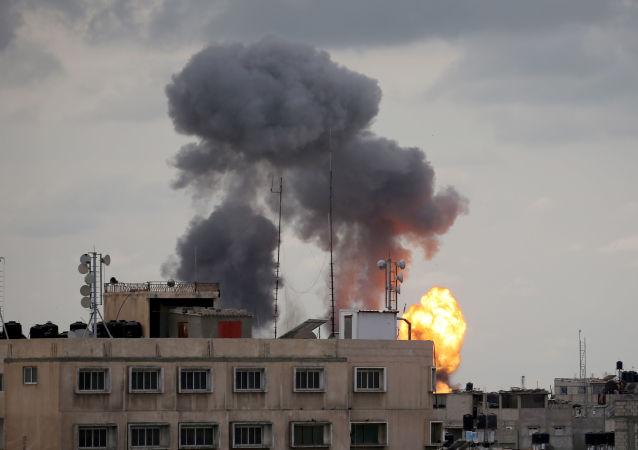 以軍對加沙地帶實施襲擊 (資料圖片)