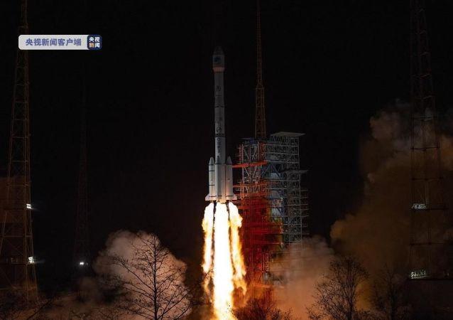 中國在西昌衛星發射中心用長征三號乙運載火箭,成功發射北斗系統第54顆導航衛星