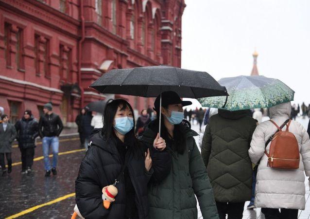 外國旅客在莫斯科