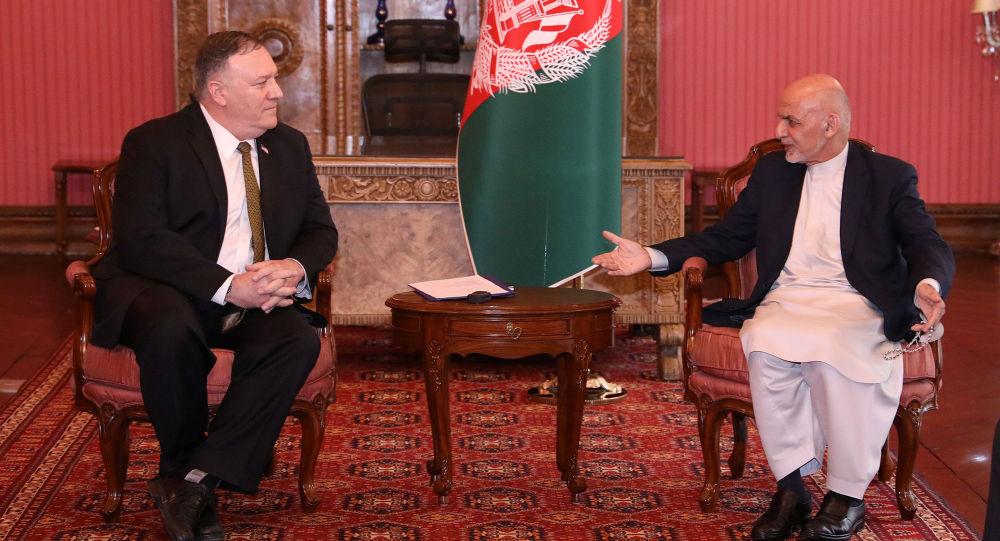 美國國務卿蓬佩奧與阿富汗總統阿什拉夫·加尼舉行會晤