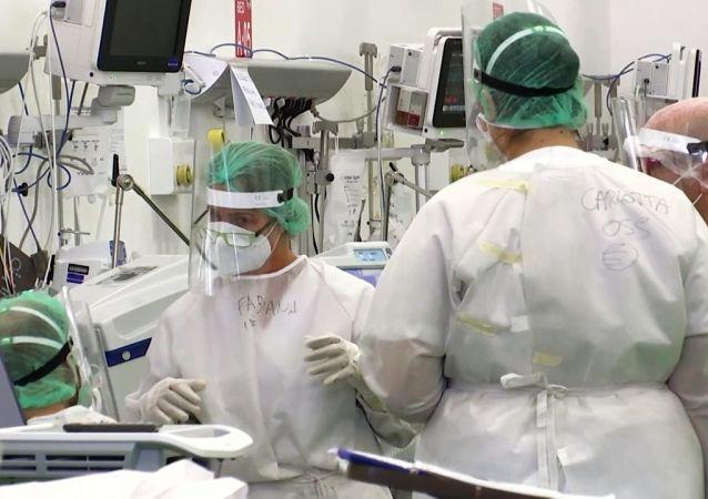 俄國防部在哈卡斯部署流動醫院並全面投入運行