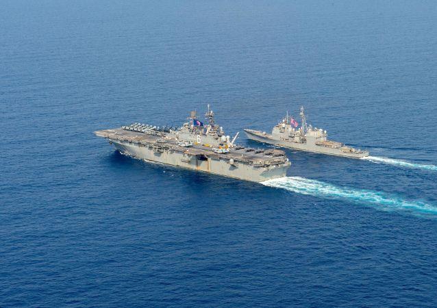美國海軍從阿拉伯海一船隻上查獲俄中兩國製造的武器