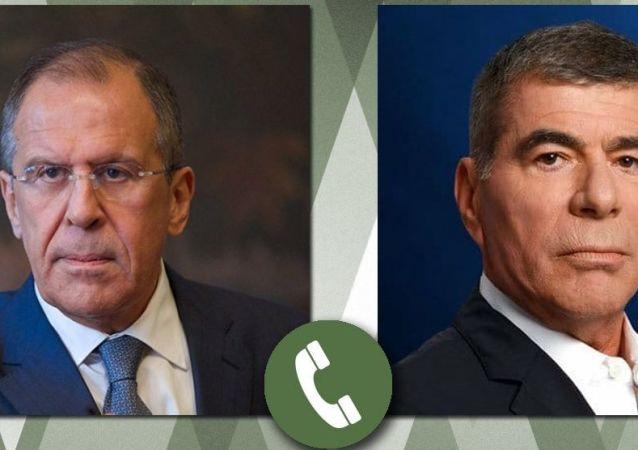 俄羅斯外長拉夫羅夫與以色列外長阿什肯納齊