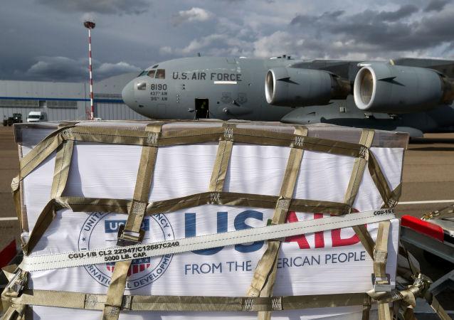 美國軍機搭載援俄呼吸機抵達俄羅斯