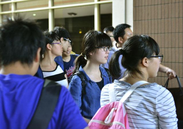 訪美中國學生