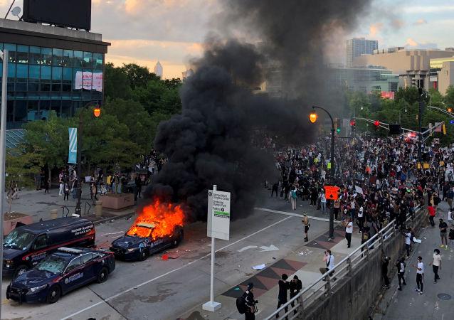 亞特蘭大抗議活動(資料圖片)