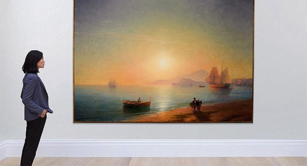 艾瓦佐夫斯基一幅油畫在蘇富比線上拍賣會上以近300萬美元拍出