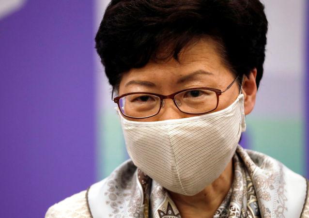 香港特區行政長官林鄭月娥接種第二劑科興新冠疫苗