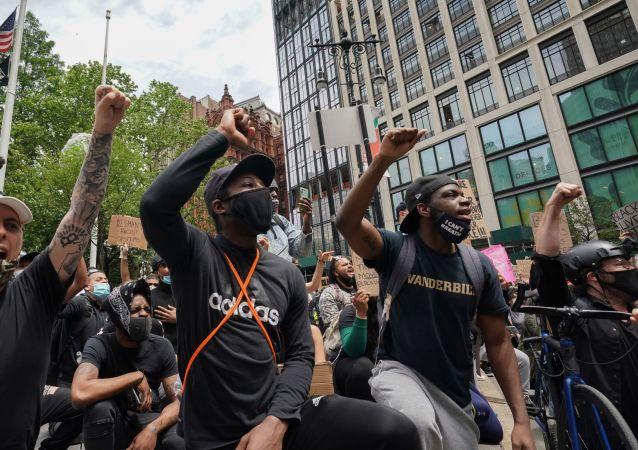 美國的大規模抗議活動