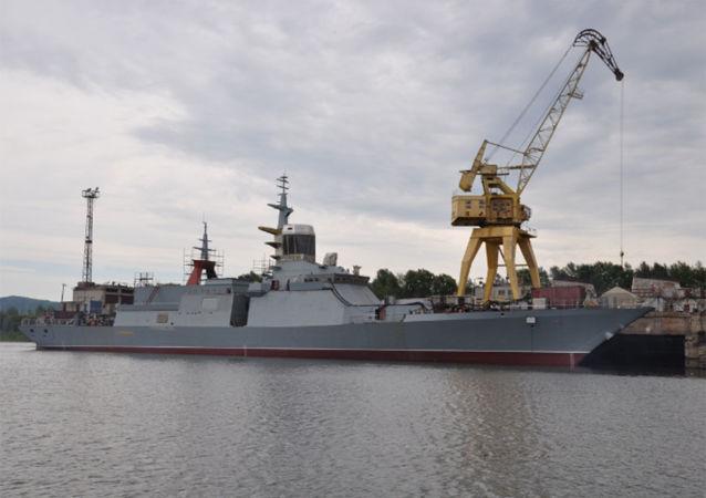 俄最新型護衛艦「俄聯邦英雄阿爾達爾∙齊堅扎波夫」號