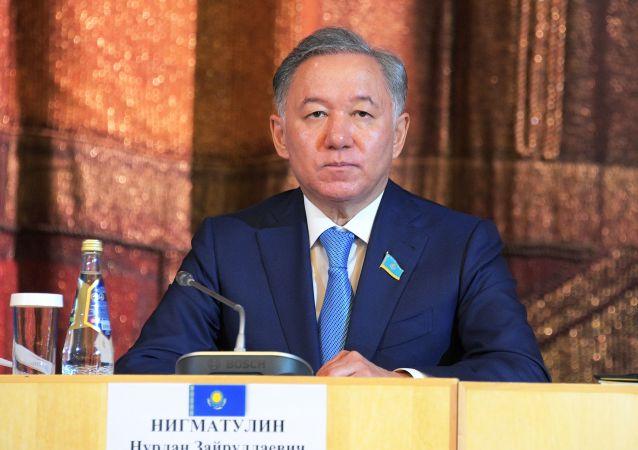 哈薩克斯坦馬吉利斯(議會下院)議長尼格瑪圖林