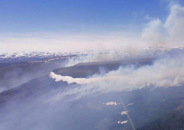 堪察加邊疆區天然火災