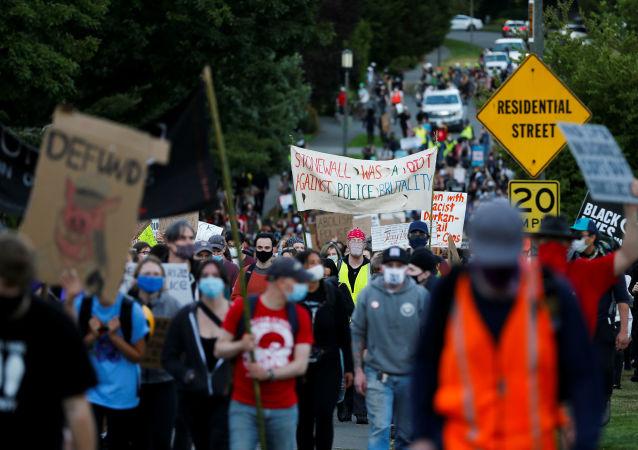 西雅圖抗議活動