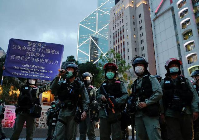 香港警員(資料圖片)