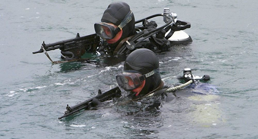 俄太平洋艦隊水下破壞部隊對堪察加駐地區域進行例行檢查